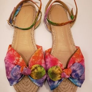 New Charlotte Olympia Neon Tie Dye Espadrilles 38